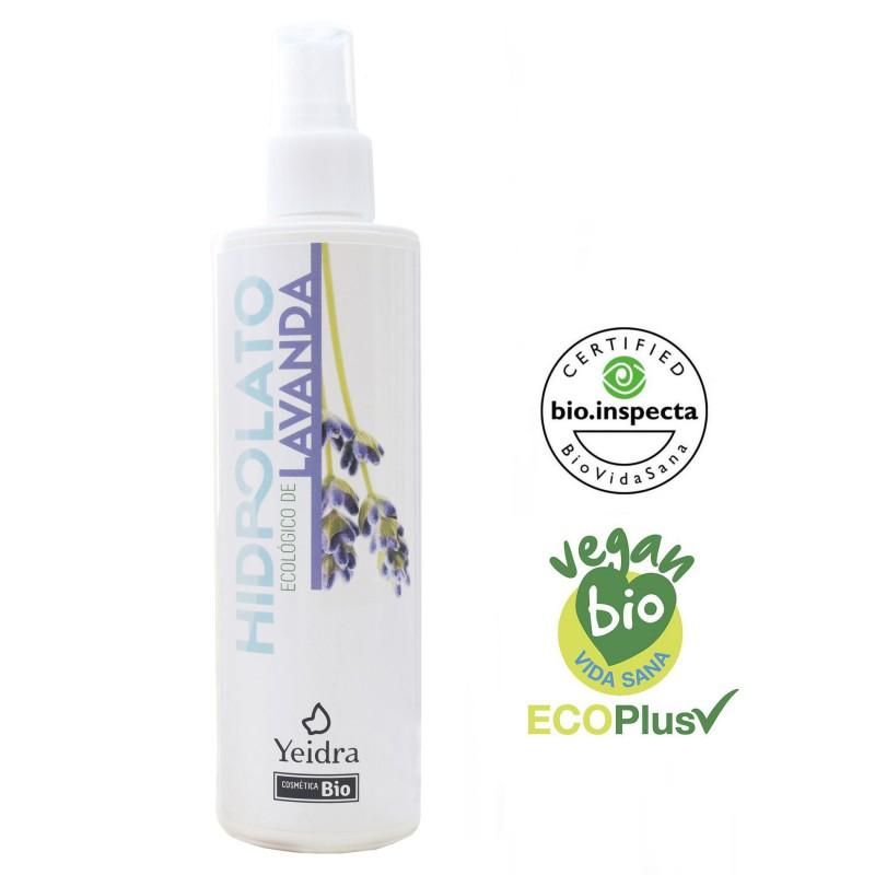 Hidrolato de lavanda BIO. Natural y Ecológico. Certificado vegano y ecológico.