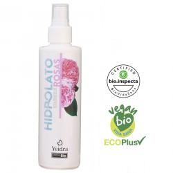 Hidrolato de rosa damascena BIO. Natural y Ecológico. Certificado vegano y  ecológico.