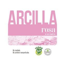 Arcilla rosa de uso cosmético. BIO. Certificada. No irradiada. No contiene nanopartículas.