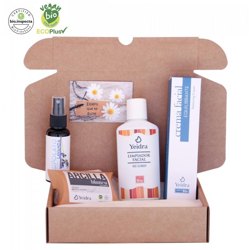 Pack BIO: pieles mixtas/grasas. Cosmética Natural y Ecológica. Certificado vegano y ecológico.
