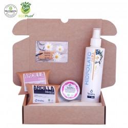 Pack BIO: exfoliación y mascarilla facial. Cosmética Natural y Ecológica. Certificado vegano y ecológico.