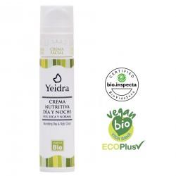 Crema nutritiva día y noche BIO. Natural y Ecológica. Certificado vegano y ecológico.