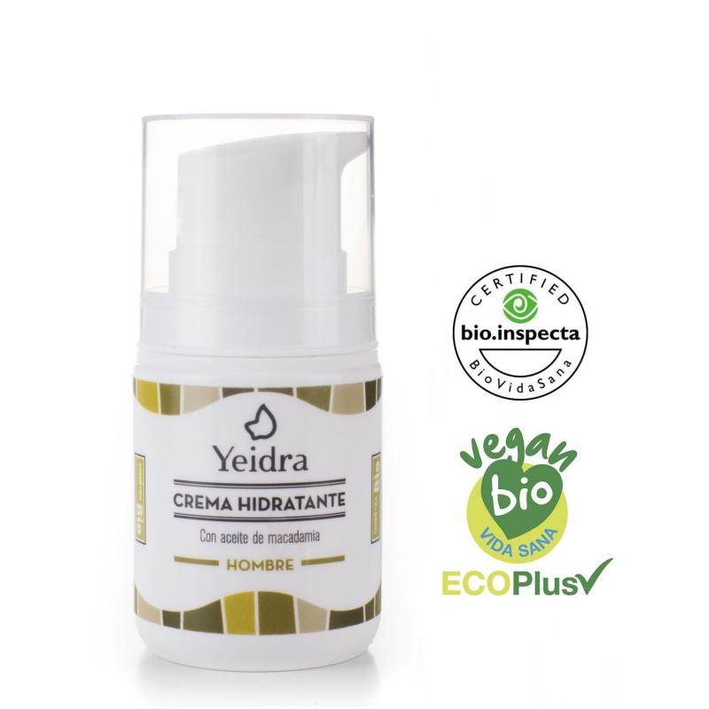 Crema hidratante de hombre BIO. Natural y Ecológica. Certificado vegano y ecológico.