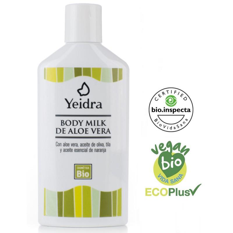 Body Milk de Aloe Vera BIO. Natural y Ecológico. Certificado ecológico.