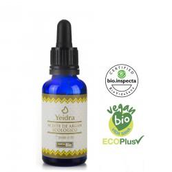 Aceite de argán BIO. Natural y Ecológico. Certificado vegano y ecológico.
